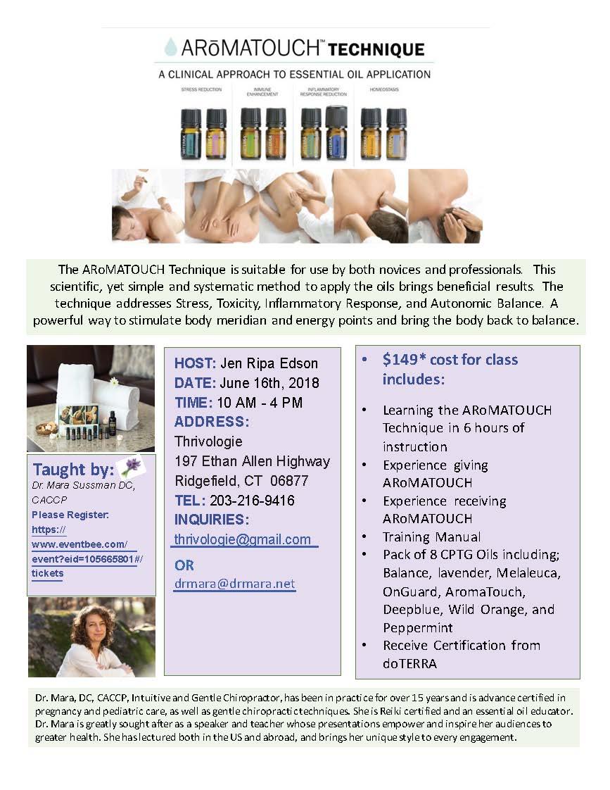 Aromatouch Certification Training Ridgefield Ct