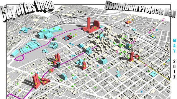 Las Vegas Technology Tour - Las vegas street map