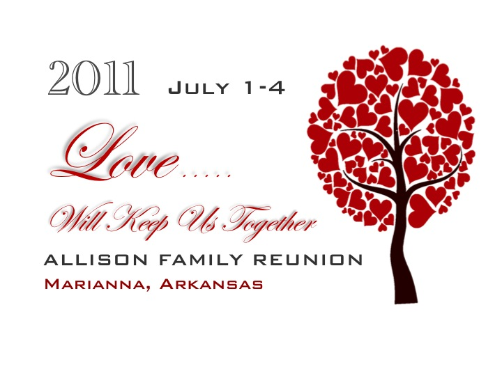 2011 Allison Family Reunion Registration